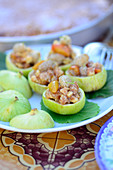 Stuffed green figs with nuts, greengages and mulberries (Turkey)