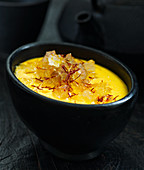 Mango lassi with saffron