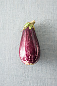 A light-purple aubergine with stripes