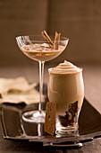 Coffee syllabub and cold chai coffee