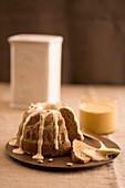 Coffee Bundt cake with coffee sabayon