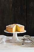 Torta paradiso al limoncello (limoncello cream cake, Italy)