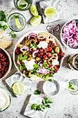 Adzukibohnen mit Räucherpaprika, Chorizo und Nachos (Mexiko)