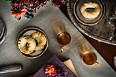 Sweet date cookies with tea (Tunisia)
