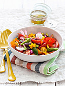 Oriental colorful tomato salad