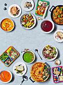 Viele verschiedene Gerichte zum Lunch