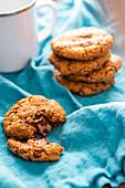 Chocolate chunk cookies with tahini