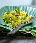 Saffron rice with pistachios and spices (Asia)