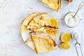 Classic crepes mit lemon