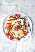 French Toast mit Ricotta und Erdbeeren
