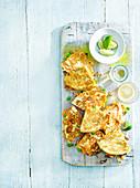 Quesadillas mit Süsskartoffel und Schalotten (Mexiko)