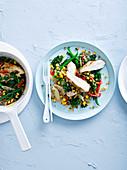 One Pot mit Quinoa, Huhn und Gemüse