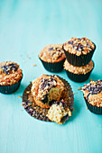 Blueberry Bakewell Muffins