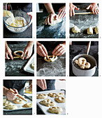 Preparing homemade soft pretzels