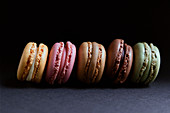 Stack of fresh crunchy macaroons