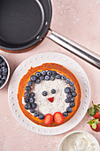Cake with berries on plate