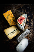 Cheese Selection with Fig