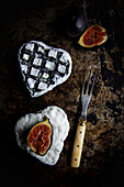 Goat Cheese Hearts and Fig