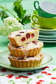 Cherry marzipan tartlets