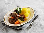 Swedish calops (beef goulash)