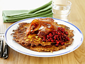 Raggmunk - Swedish potato pancakes with bacon