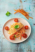 Salmon fillet on carrot salad (low carb)