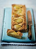 Vanilla Poached Pear and Frangipane Tart