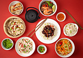 Various dishes from Asia