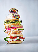 Bagel, sandwich and wrap stack