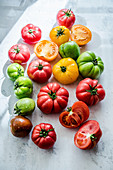 Colorful Heirloom tomatoes