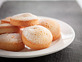 Madeleines on a plate