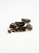 Cocoa beans, whole and broken