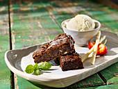 Chocolate Fudge Brownie with Vanilla Ice Cream