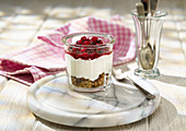 Red Fruit Compote, oats, raisins, sunflower seeds, natural yogurt