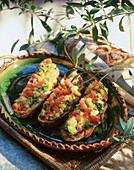 Tartines with grilled vegetables