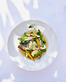 Perch fillet with vegetables