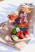 A fruity detox drink