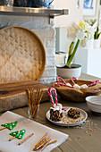 Handmade, decorative Christmas sweets