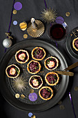 Beetroot and red cabbage tartlets for Christmas