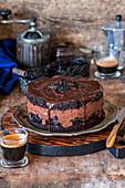 Prune chocolate cake
