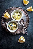 Lemon and licorice ice cream
