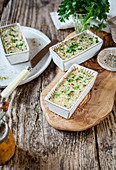 Vegetable pate with parsley