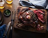 Cooked Rib Eye Steak