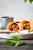 Burritos with beef and beans