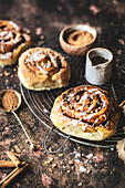 Cinnamon rolls with nuts