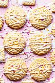 Zuckerkekse mit Glasur