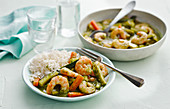 Green Masala Prawn And Coconut Curry