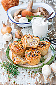 Potato mushroom pies