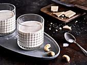 A white cashew nut latte