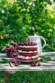 Schokoladen-Kirsch-Torte mit Mascarpone
